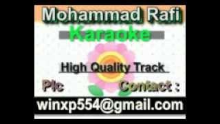 Man Ki Been Matwari Baje Karaoke Shabab 1954 Rafi