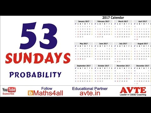 53 Sundays in a leap year | Probability |