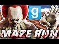 Pennywise maze challenge garry s mod maze run chasing it clown mods mp3