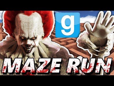 PENNYWISE MAZE CHALLENGE?!   Garry's Mod Maze Run (Chasing IT Clown Mods)