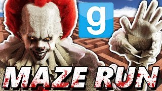 PENNYWISE MAZE CHALLENGE?! | Garry's Mod Maze Run (Chasing IT Clown Mods)