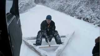 Смотреть видео снегоочистка автомобильных дорог