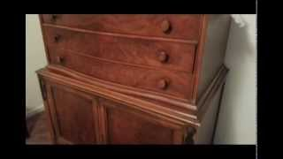 ANTIQUE FURNITURE FOR SALE! HOOSIER CABINET, SECRETARY BOOKCASE, DRESSERS W/MIRRORS!
