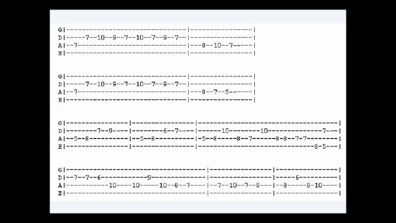 Guitar Tab America Anthem United States National Tab Youtube