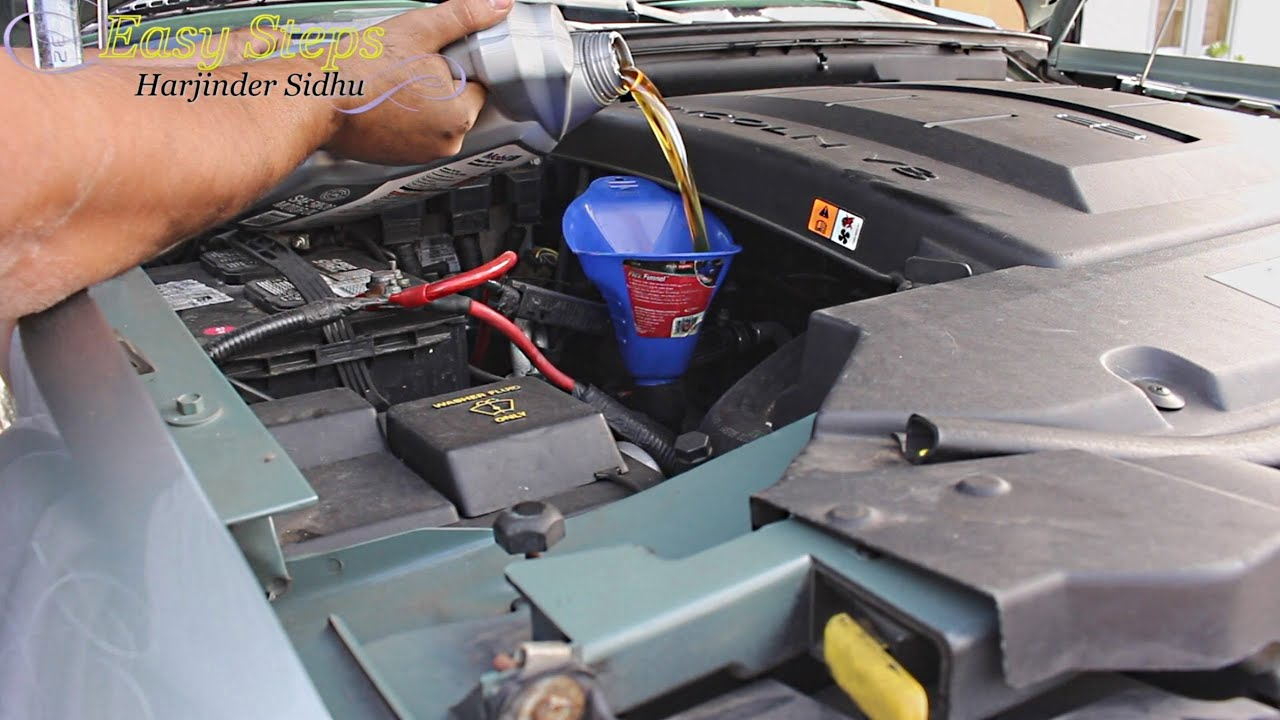 How to Change Engine Oil and Oil Filter on Lincoln Navigator in Easy ...