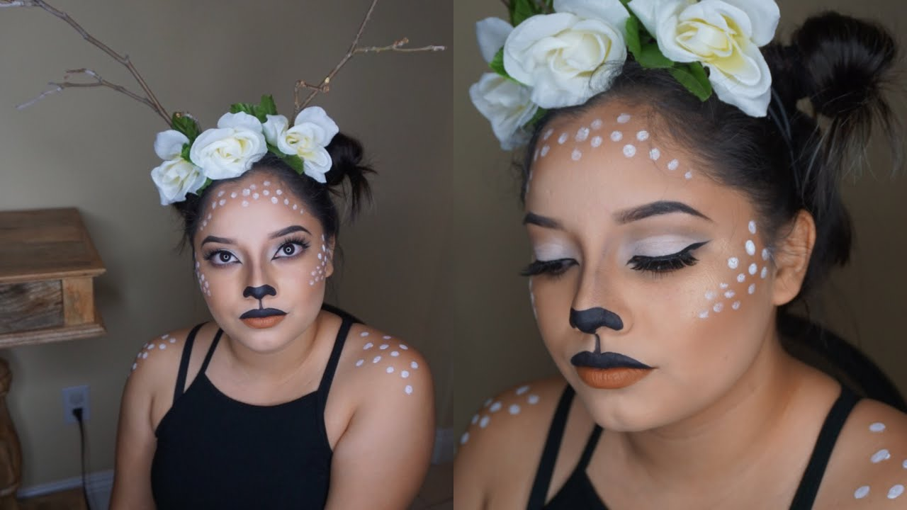 Cute Bambi Makeup Tutorial Diy Flower Crown Youtube