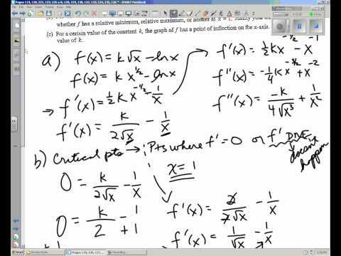 AP Calculus AB Review Pages 119, 120, 121, 123, 126 a-b.wmv