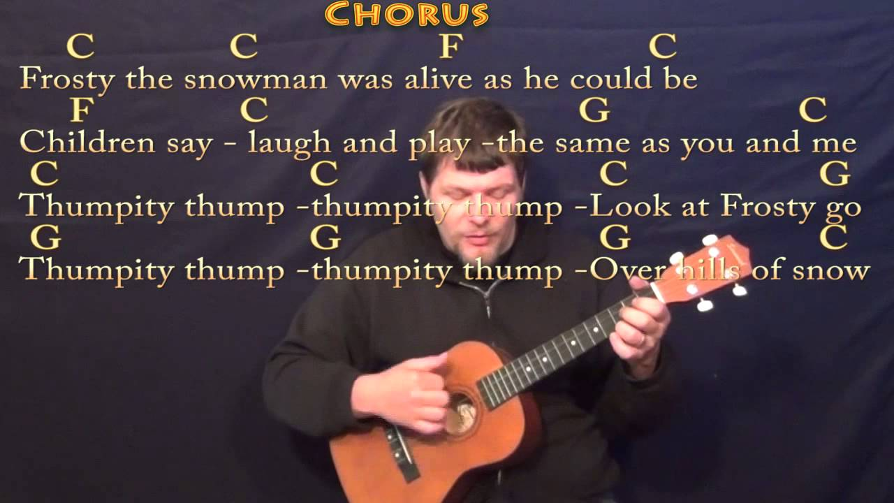 frosty the snowman bariuke cover lesson in c with chordslyrics