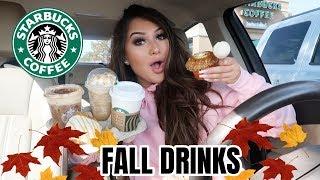 Trying NEW fall STARBUCKS DRINKS & TREATS!!!