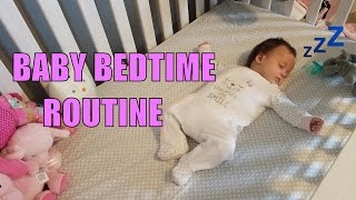 cute bedtime routine with 3 month old baby