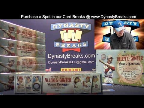 2021 Topps Allen and Ginter Baseball Card 6 Box Half Case Break #3   Sports Cards