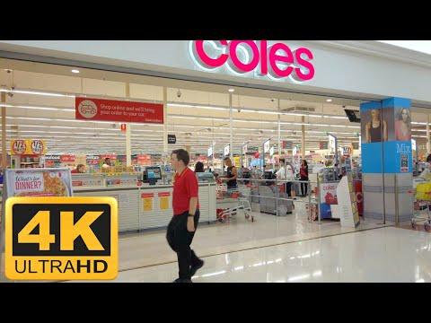 【4K】Walking Around Supermarket in Australia | Coles - Brisbane Queensland【VR】