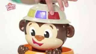 Smyths Toys - Bright Starts Hide n Spin Monkey