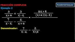 Simplificación de una Fracción Compleja: Teoría y Ejemplos
