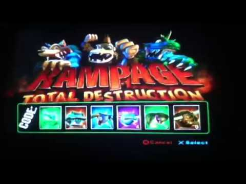 Rampage Total Destruction Unlock All Characters Youtube