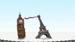 Big Ben vs. Eiffel Tower ~ Eurostar ~ France &  England Train Travel Video
