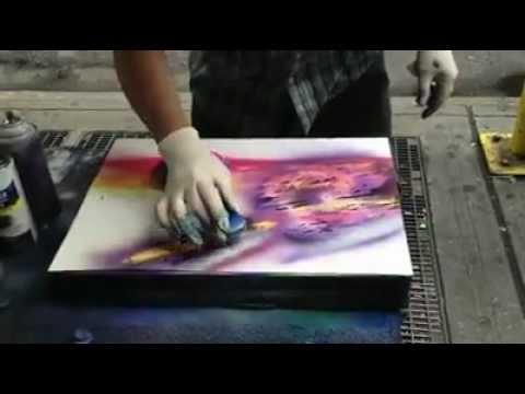Amazing Spray Painter Artist - Incredible Skill