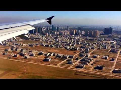 Landing in Erbil Airport دابةزيني فروكة لة هةولير