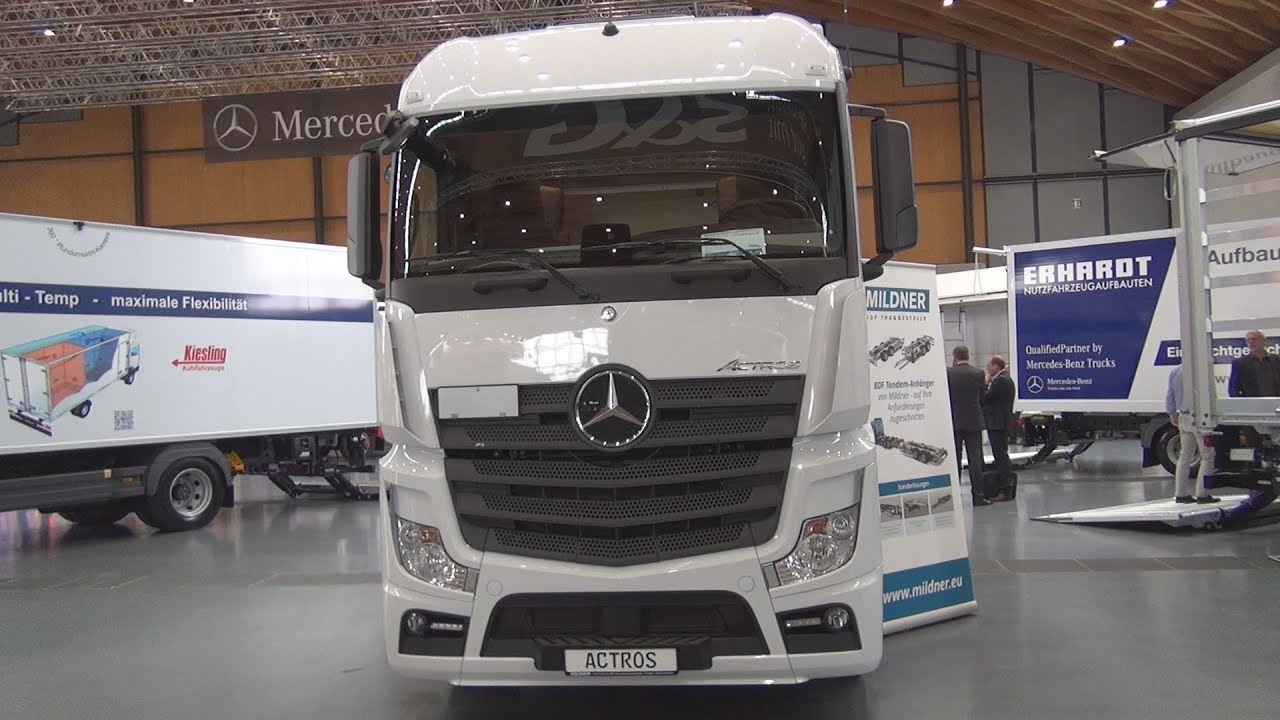 mercedes benz actros 2545 chassis truck 2018 exterior and interior youtube. Black Bedroom Furniture Sets. Home Design Ideas