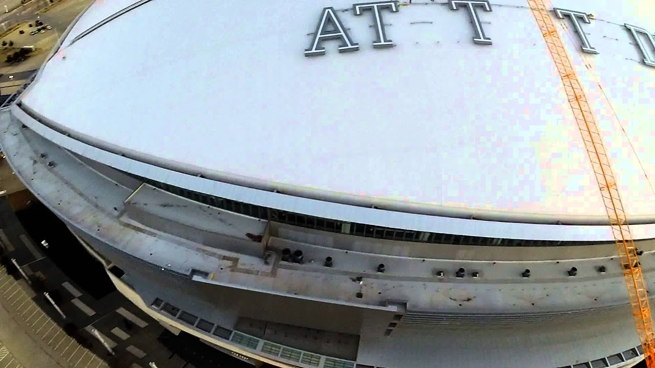 At Amp T Stadium Roof Sign Install 1 29 14 Youtube