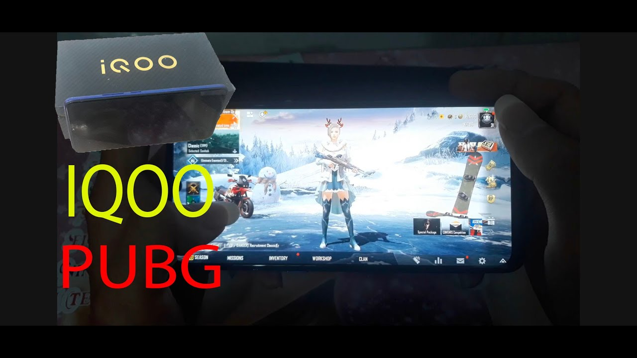 Vivo IQOO neo 855 test Game PUBG MOBILE