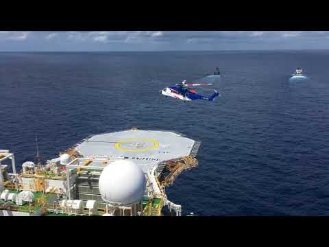 First helicopter landed on Ichthys FPSO