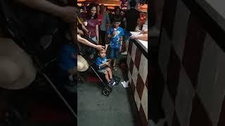 Turkish ice cream fun with cute infant @Singapore