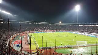 Etoile Rouge de Belgrade - PSG : Le Marakana après la réduction du score (1-2)