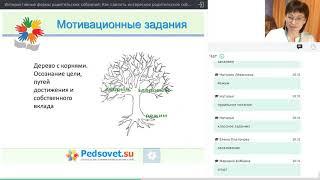 """Прием """"Дерево"""" для работы с родителями (детьми). Фрагмент вебинара"""