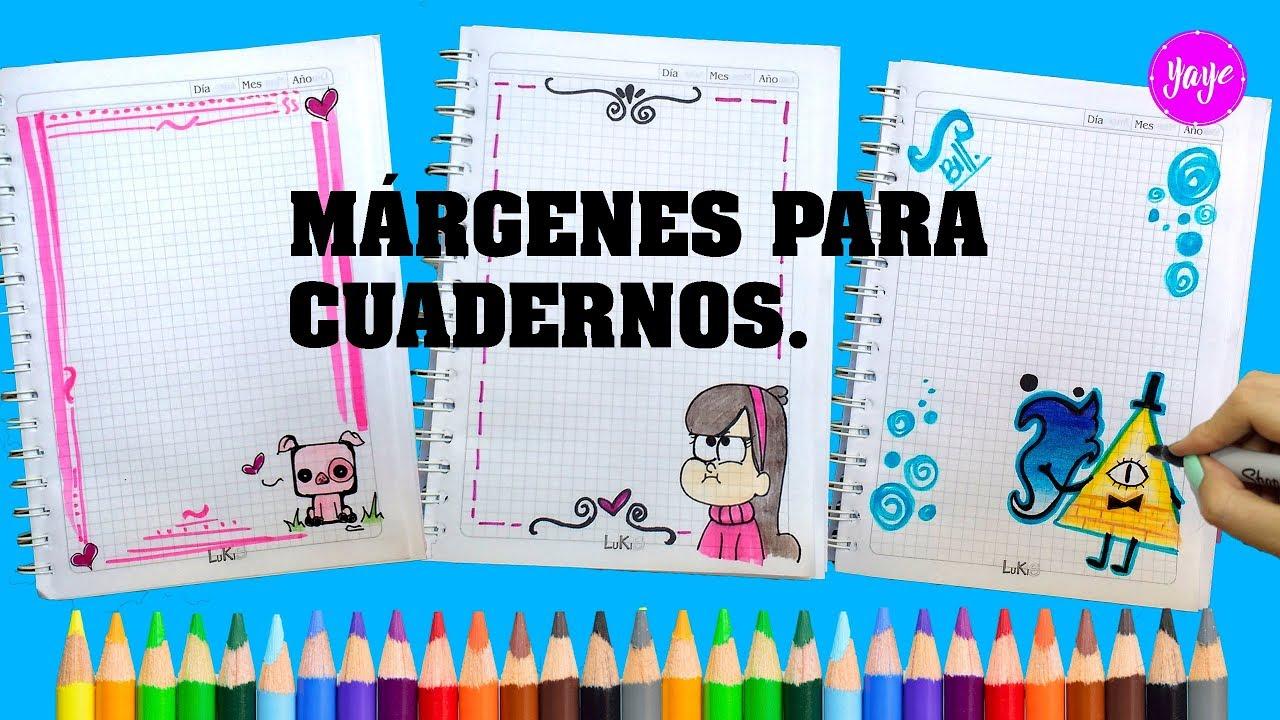 Ideas Para Márgenes De Cuadernos Cómo Dibujar Márgenes De Cuadernos Gravity Falls Yaye