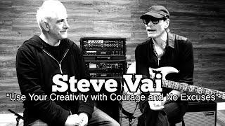 "Here is my first in person interview with guitar legend and one of the most thoughtful human beings Mr. Steve Vai. ""Use Your Creativity with Courage and No ..."