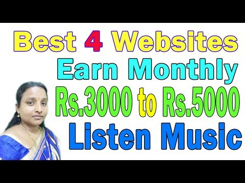 Online Music Listen 4 Websites | Easy to Earn Money Daily in Tamil