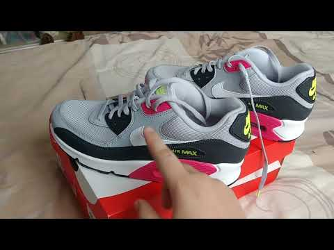 NIKE AIR MAX 90 ESSENTIAL COLOR WOLFGREY WHITE RUSH PINK