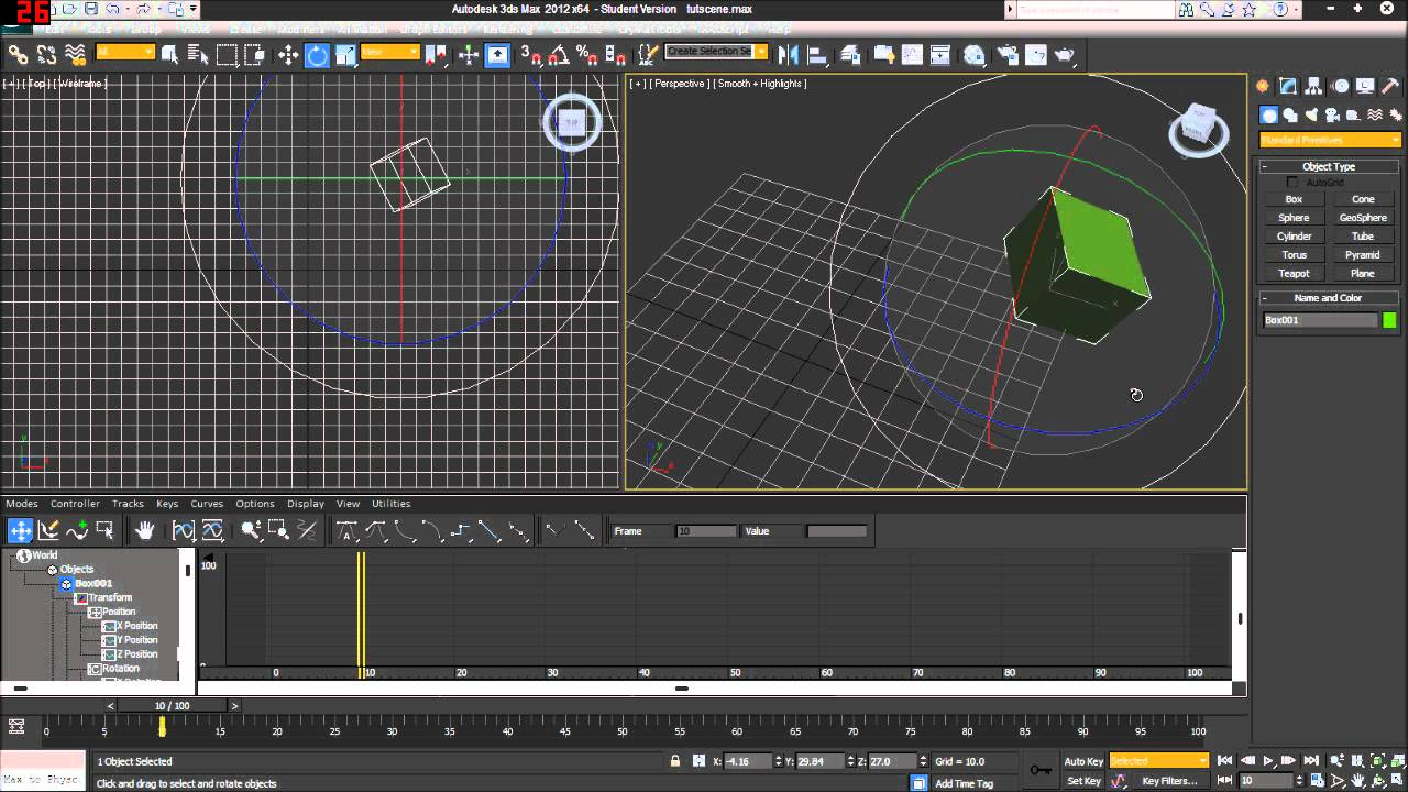 3ds max animation tutorial 2 the track bar youtube - Materiale specchio 3ds max ...