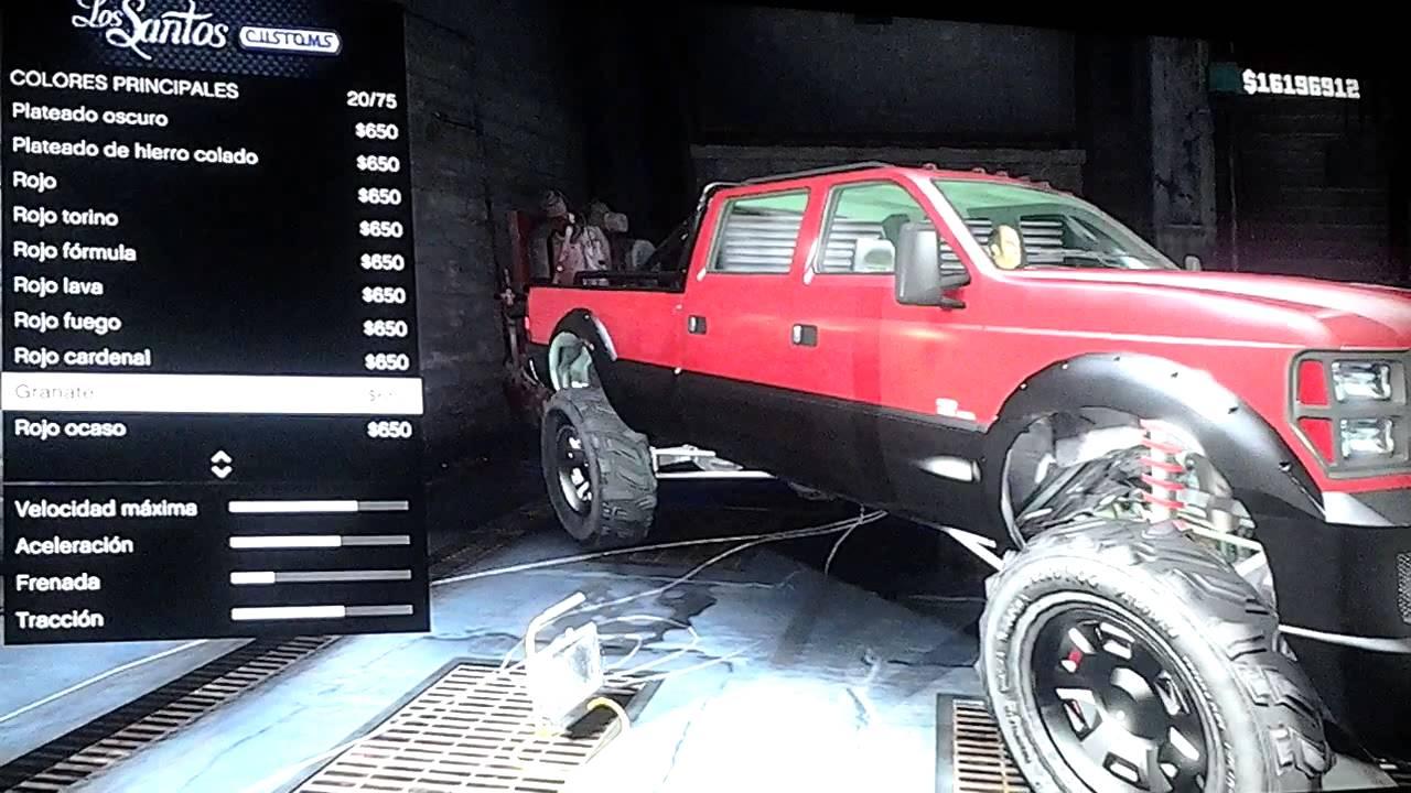 Ford Super Duty >> Modificando Coches en GTA 5 - Super Duty 4x4. - YouTube