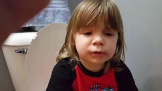 Gunnar, the stubborn potty training boy