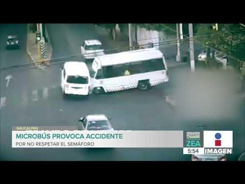 Microbús del Estado de México provoca accidente por no respetar el semáforo | Francisco Zea