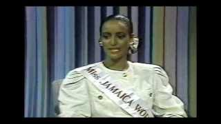 Sandra Foster Miss JAMAICA World 1991 Interview on JBC TV