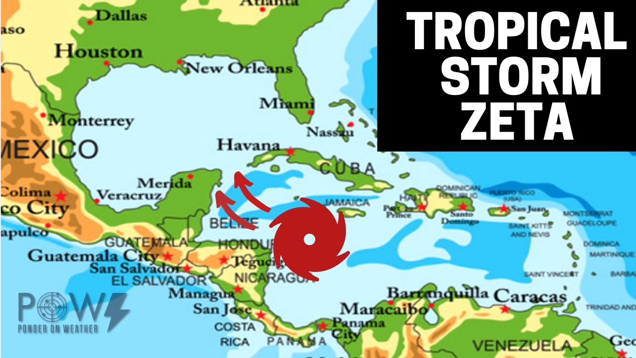 Tropical Storm Zeta Jamaica Flooding Imminent! Cancun & US Landfall!  POW Weather Channel
