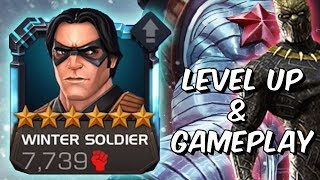 6 Star Winter Soldier Level Up & Gameplay - Killmonger Synergy - Marvel Contest Of Champions