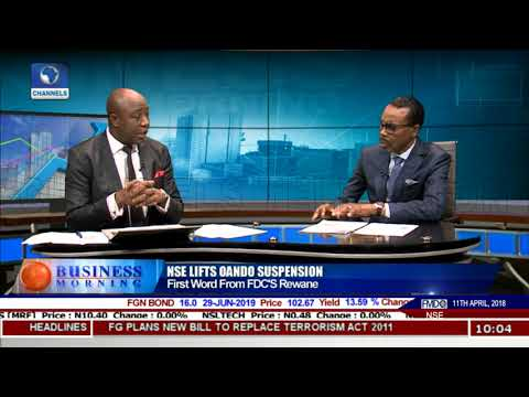 Nigerian Stock Exchange lifts Oando Suspension Pt.1 |Business Morning|