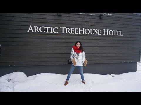 Arctic Treehouse Hotel, Rovaniemi, Finland, April 2017