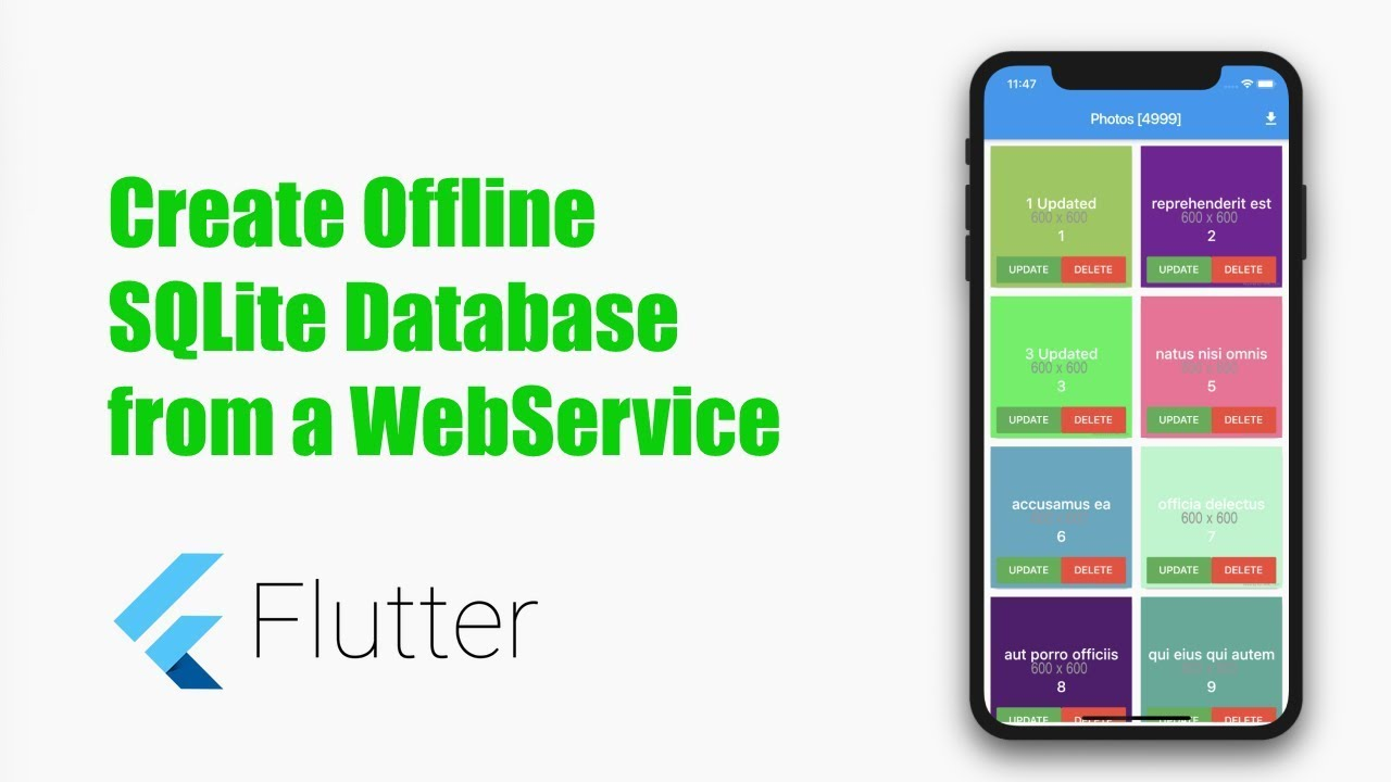 Offline Database from WebService using SQFlite in Flutter