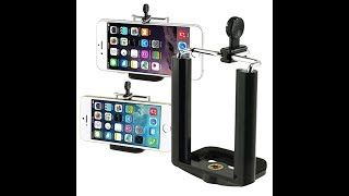 Review For Camera Phone Stand Clip Bracket Holder Monopod Tripod Mount