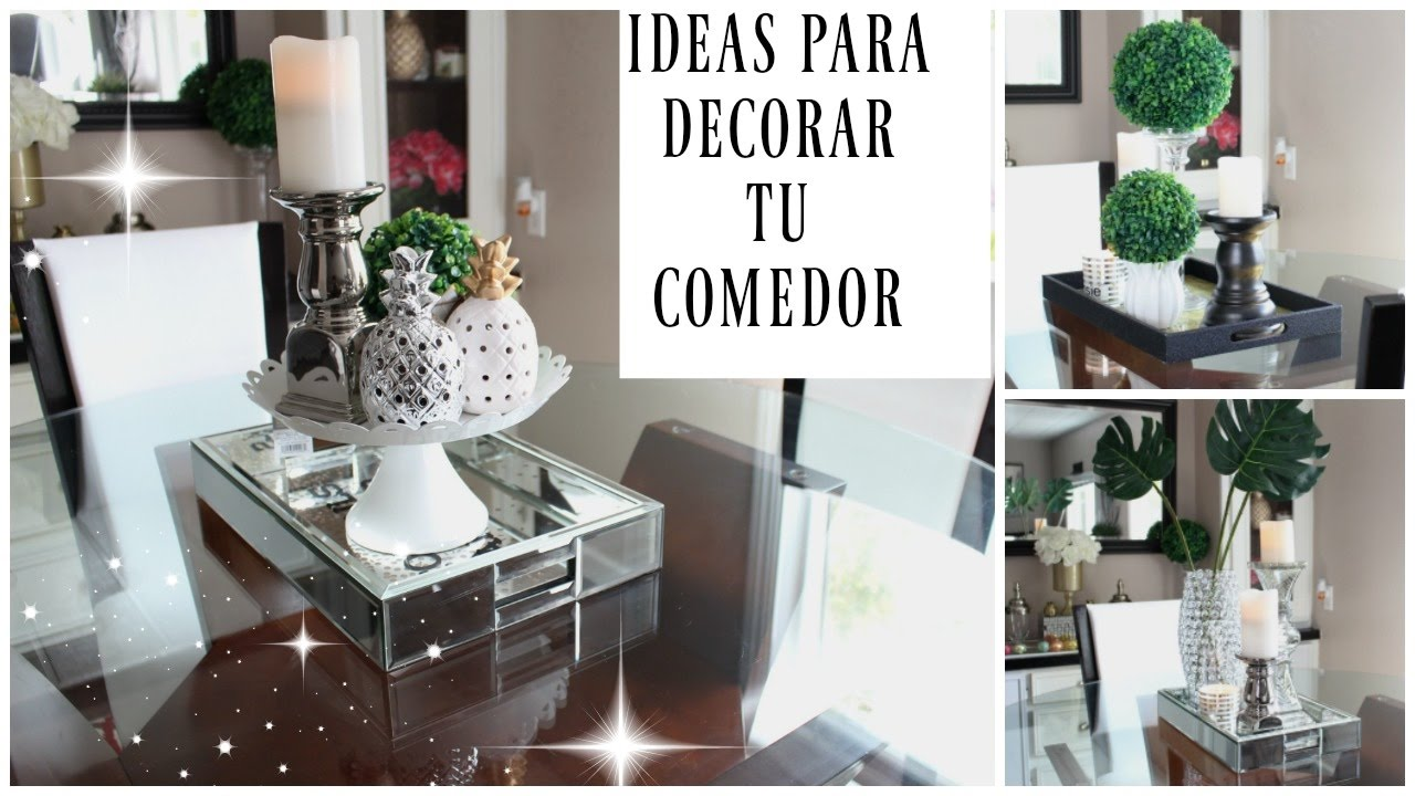 Ideas para decorar tu comedor youtube for Como decorar un living comedor rectangular grande