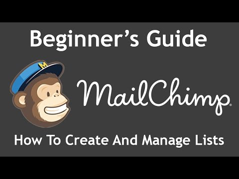 Tutorial How To Create And Manage Subscriber Lists In Mailchimp Guide