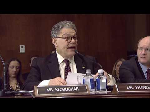 Senator Al Franken Speaks out in Senate Judiciary Committee Hearing