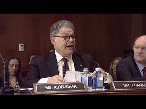 Senator Al Franken Speaks out in Senate Judiciary Committee Hearing