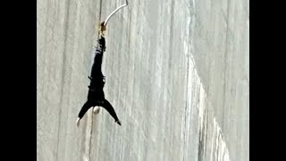 Scott Hettrick 007 bungee jump off 720-foot dam April 1, 2018