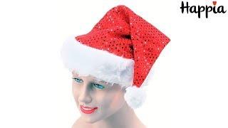 Колпак Санта Клауса с пайетками / Обзор